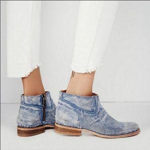Free People x Matisse Duke denim ankle booties